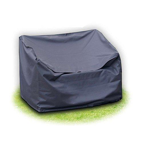 Schutzhülle für Gartenbank 120x78x80 cm 2-sitzer Grau aus Polyester Oxford 420D