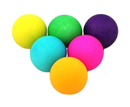 Donic-Schildkröt Tischtennis-Ball COLOUR POPPS 6er Blistercard, bunt, One Size, 649015