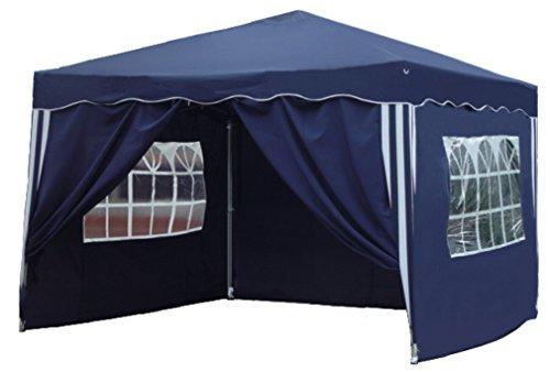 Kronenburg Falt Pavillon Dachmaß 3 x 3 m in blau mit 4 Seitenteilen