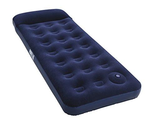 Pavillo aufblasbares Single Luftbett 'Blue Horizon Step' für eine Person mit eingebauter Fußpumpe 185x76x28 cm