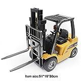 Kongqiabona HUINA Spielzeug 1577 1/10 8CH Legierung RC Gabelstapler Kran LKW BAU Auto Fahrzeug Spielzeug mit Sound Licht Werkbank Lift RTR