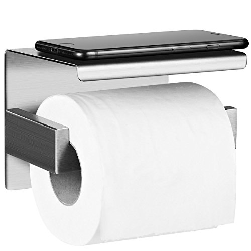 Selbstklebend Toilettenpapierrollenhalter, Edelstahl Ohne Bohren Zur Wandmontage für Küche und Badzimmer … (Toilettenpapierrollenhalter 2)