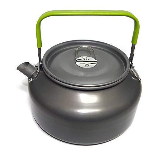 Ecent Tragbar Aluminium Camping Wasserkocher Kessel Teekanne Kaffeekanne für Outdoor Picknick Wandern 1,2L
