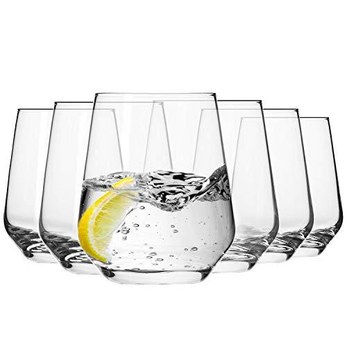 KROSNO Wassergläser Saftgläser Whiskygläser | Set von 6 | 400 ML | Splendour Kollektion | Perfekt für zu Hause, Restaurants und Partys | Spülmaschinenfest und Mikrowellengeeignet