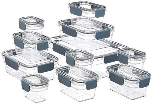AmazonBasics - Tritan-Frischhaltedose mit Verschluss, 22er-Packung