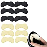 6 Paar Schwamm Fersenpolster, Fußpflege Fersenkissen, Ferse Schuheinlagen, Selbstklebend, Komfort (Schwarz & Fleischfarbig)