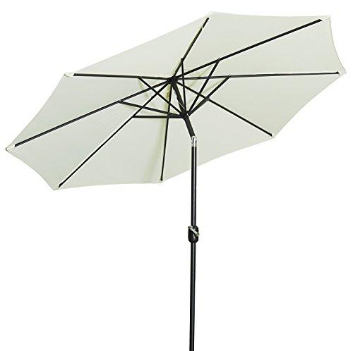 Gartenfreude Sonnenschirm, Durchmesser 270 cm, UV 50+, 270 x 270 x 245 cm, creme, 4900-1000-100