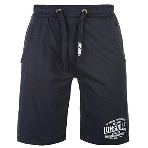 Lonsdale Mens Box Lightweight Shorts Pants Bottoms Boxing Sports Clothing Navy Medium