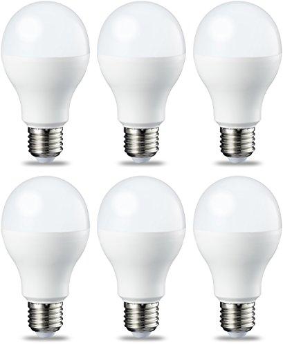 AmazonBasics E27 LED Lampe, 14W (ersetzt 100W), warmweiß, dimmbar - 6er-Pack