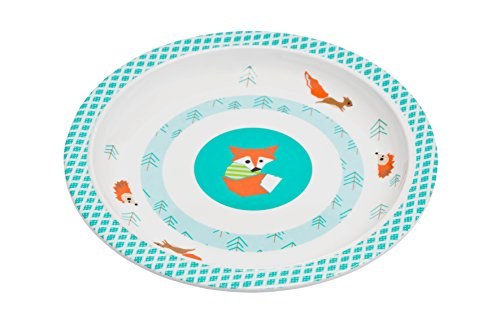 Lässig Dish Plate Melamin Teller aus 100% Melamin BPA-frei und rutschfest, Little Tree Fox