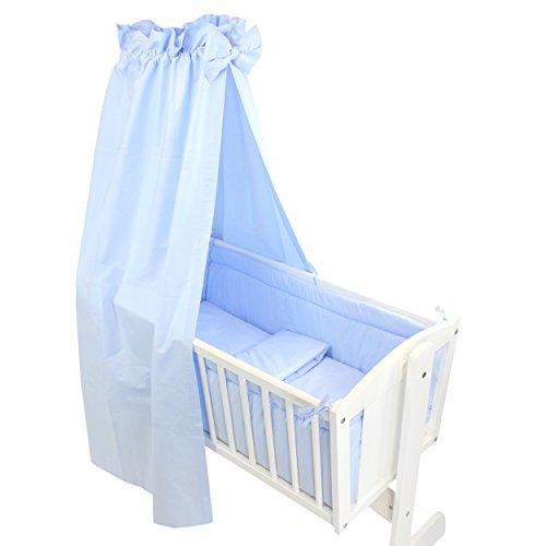 TupTam Unisex Baby Wiegen-Set 6-tlg., Farbe: Tupfen-Sterne Weiß / Grau, Anzahl der Teile:: 6 tlg. Set