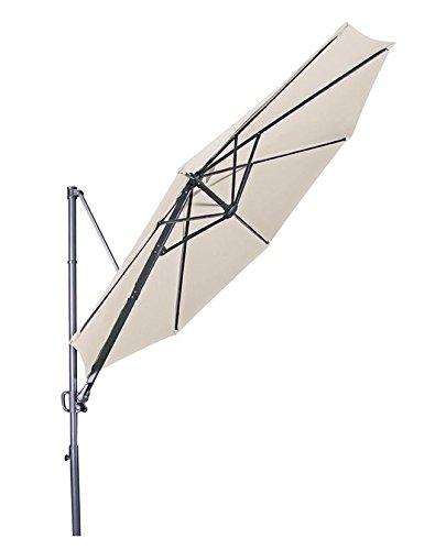 Doppler Hochwertiger Ampelschirm 'Ravenna 300' in natur, neigbar, 360 Grad drehbar, UV-Schutz 50 PLUS,