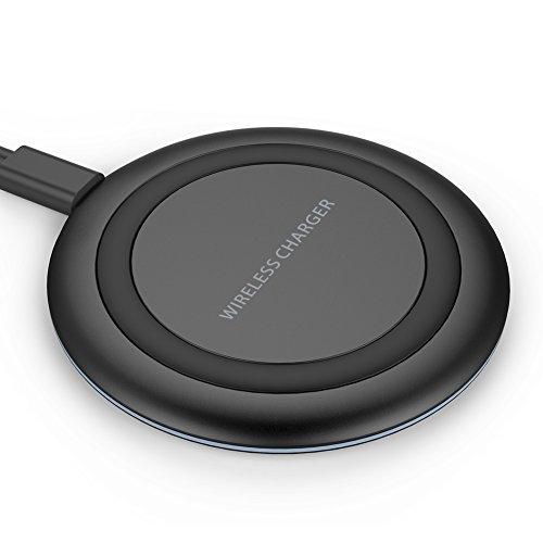 Wireless Charger, YOOTECH Wireless Ladestation für iPhone X, iPhone 8/8 Plus, Galaxy S9/S9 Plus/S8/S8 Plus/S7/S7 Edge/Hinweis 8/Note 5 [Ohne Netzteil] [Ultra Schmale] [ Schlaf Freundlich]