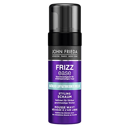 John Frieda Frizz Ease Styling Schaum Luftgetrocknete Wellen - 2er Pack (2 x 150 ml) - mit Moringa-Öl - definiert für fühlbar geschmeidige Wellen