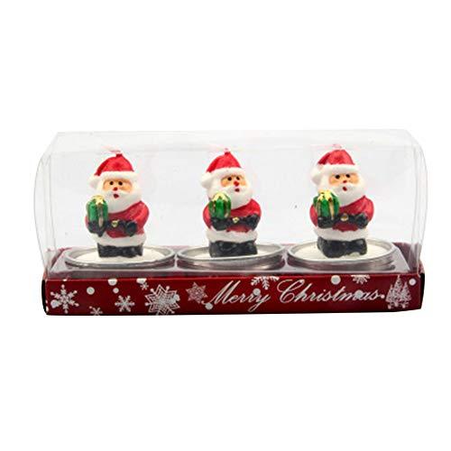 Tenflyer Weihnachtskerze, Weihnachten Cartoon Santa Schneemann Kerze Weihnachten Einstellung Requisiten Home Party Decor Geschenke
