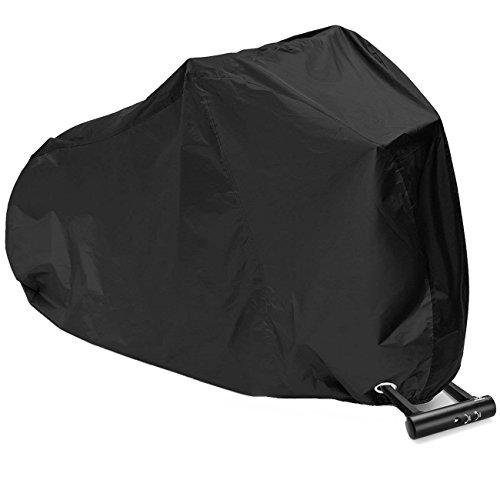 Fahrradabdeckung, Wasserdichter Fahrradgarage Motorradgarage Fahrradschutzhülle Regenschutz Schutzbezug Anti Dust Sun Regen Wind Proof UV Schutz(200x70x110CM)