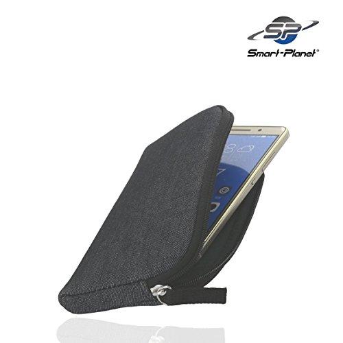 Smart-Planet hochwertiges SoftCase 3xl Universal für z.B. Samsung Galaxy S8 A7 A8 2016 iPhone 7 Plus 8 Plus Huawei P9 Plus Handytasche Handy Hülle