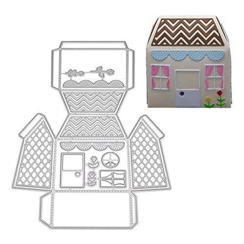 Luluspace Stanzschablonen Metall Stanzformen Süßigkeiten Box Silber Schneiden Schablonen Für DIY Cutting Dies Scrapbooking Album, Schneiden Schablonen Papier Karten Sammelalbum Deko