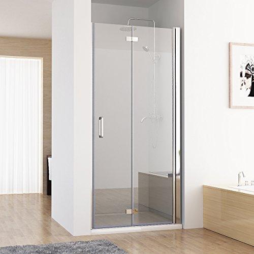 75-120 x 195 cm Nischentür 2 tlg. Faltwand Aufsatz Duschwand Duschabtrennung (120cm)