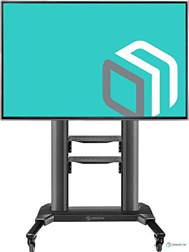 ONKRON TV Ständer Höhenverstellbar Standfuß für 42' - 80' Zoll LCD LED OLED Plasma Bildschirmen Fernsehständer TS2771 Schwarz