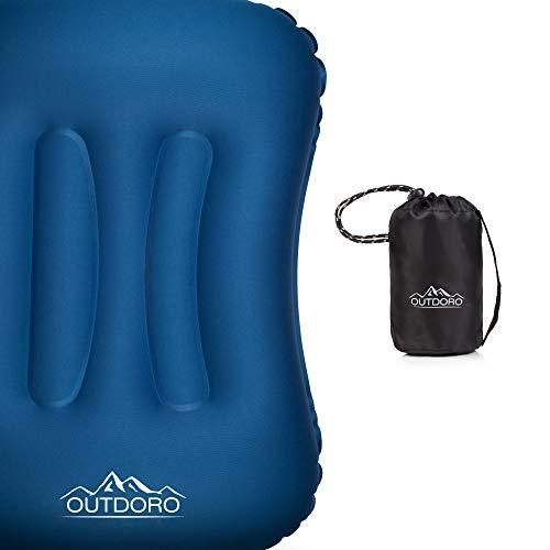 Outdoro aufblasbares Kissen - Ultra-leichtes Kopfkissen für Strand, Reise, Camping, Outdoor