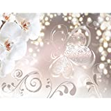 Fototapeten Blumen Orchidee Weiß 352 x 250 cm Vlies Wand Tapete Wohnzimmer Schlafzimmer Büro Flur Dekoration Wandbilder XXL Moderne Wanddeko Flower 100% MADE IN GERMANY - Runa Tapeten 9076011a