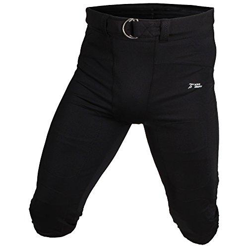 Active Athletics American Football Hose, Gamepants No Fly ( mit breitem Gürtel) - schwarz M