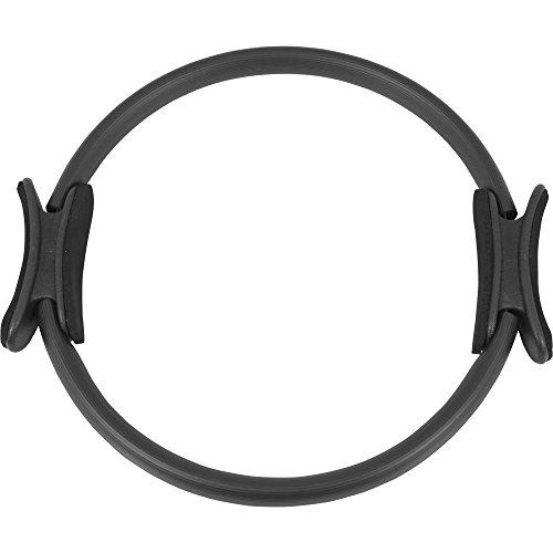 GORILLA SPORTS Pilates Ring/Yoga Ring 39 cm Schwarz – Widerstandstrainer Kunststoff mit gepolsterten Griffen