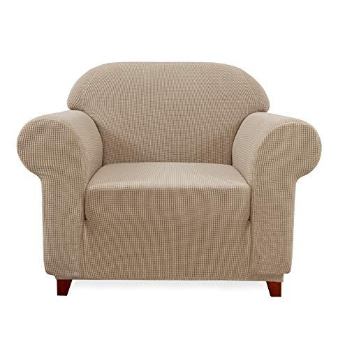 Subrtex kariert Sofabezug Sofahusse Sesselbezug Stretchhusse Sofaüberwurf Couchhusse Spannbezug