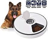 XIAPIA Automatische Haustier Futterspender für Katzen/Kleintiere mit digitalem Timer, Futterautomat für bis zu 6 Mahlzeiten Lebensmittel