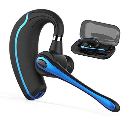 Bluetooth Headset,Wrieless OhrhörerBluetooth Kopfhörer V4.1 Freisprechen mit Mikrofon für Business/Büro/Fahren Kompatibel für iPhone/Samsung/Motorola/Huawei/LG/Android Handys (Blau)
