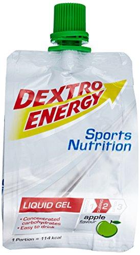 Liquid Energy Gel | 18 x 60ml Dextro Energy Liquid Gel Apfel | Energieriegel Alternative | Mit Traubenzucker | Ideal für Unterwegs | 100% Vegan