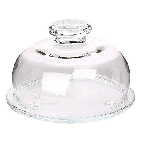 Käseglocke Glashaube Käsebehalter mit Glasdeckel Kuchenbehalter Ø 22 cm