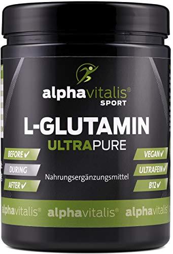 L-Glutamin Pulver ULTRAPURE - 99,95% rein - vegan - glutenfrei - laktosefrei - 500g feinstes L-Glutamin Pulver aus Deutscher Herstellung EINWEG