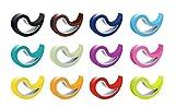 Stoppy Tür-/Fensterstopper Stoppi 12er Set erhältlich in 4 Variationen Bunt (Schwarz Schokobraun Dunkelblau Hellblau Petrol Mint Lila Pink Rot Orange Gelb Limette)