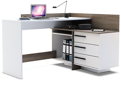 Eckschreibtisch Schreibtisch Arbeitstisch Bürotisch Computertisch 'Thales'