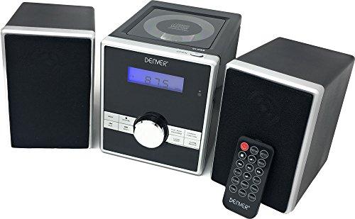 Denver  Micro Soundsystem mit PLL-FM Radio, CD-Player und AUX-In