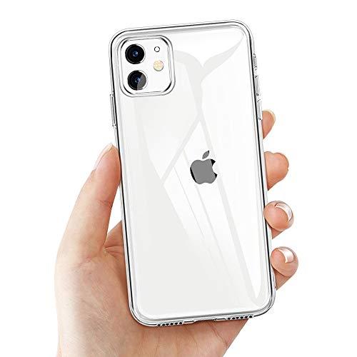 laxikoo iPhone 11 Schutzhülle, Transparent Hülle für iPhone 11 Crystal iPhone 11 Handyhülle Silikon Ultra Dünn TPU Bumper Case Anti-Scratch Stoßfest Soft Hülle für iPhone 11 Case Cover