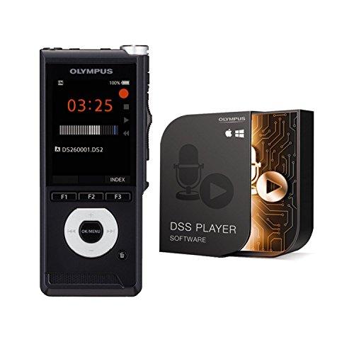 Olympus DS-2600 Diktiergerät mit Schiebeschalter inkl. Dss Player Standard-Lizenz (Mac & PC), Akku (Audioformate: Dss Pro, MP3, PCM) USB