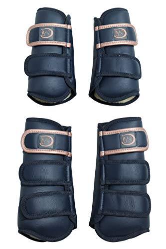 4er Set Dressurgamaschen Premium-Soft, braun von RidersDeal, Größe: Pony