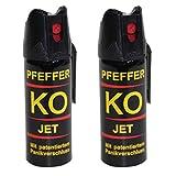 BALLISTOL Verteidigungsspray Pfeffer KO Jet 2 Dosen mit je 50 ml Pfefferspray bis zu 5 m Reichweite
