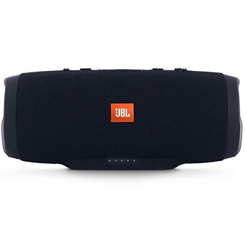 JBL Charge 3 Stealth Edition Bluetooth-Lautsprecher (Wasserfeste, portable Boombox mit integrierter Powerbank, mit nur einer Akku-Ladung bis zu 20 Stunden kabellos Musik streamen) stealth