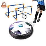 amzdeal Air Football Set inkl.1 x Luftkissen Fußball + Mini Fußball +2* Fußballtor + Ball Pumpe LED Beleuchtung Und Musik Air Power Fußball Hover Ball Set