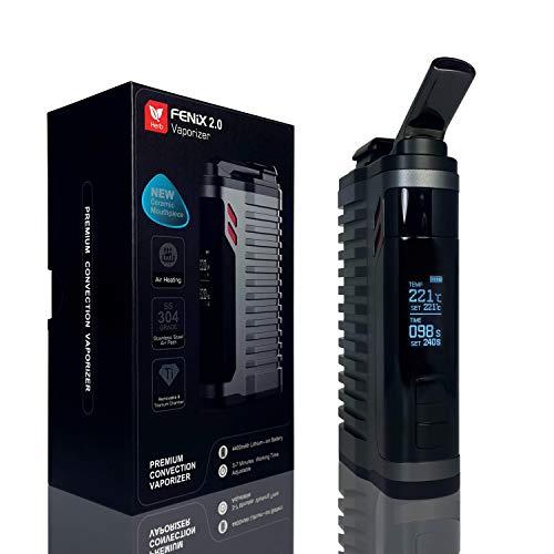 FENiX 2.0 Vaporizer *Gun Metal* Verdampfer + ECHTE KONVEKTION!! für Kräuter/Harze/Wachse + verbesserte Version 2019 + auswechselbare Titankammer + 4400 mAh-Akku und vieles mehr...! KEIN NIKOTIN!!