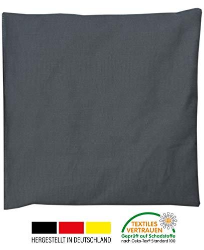 Kirschkernkissen 20x20cm Anthrazit/Grau, Bezug 100% Baumwolle, Füllung 300g Kirschkerne, Oeko-Tex 100 zertifiziert, TOP Qualität Made in Germany