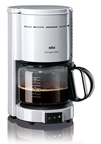 Braun KF 47/1 Filterkaffeemaschine   Kaffeemaschine für klassischen Filterkaffee   Aromatischer Kaffee dank OptiBrew-System   Tropfstopp   Abaschaltautomatik    Weiß