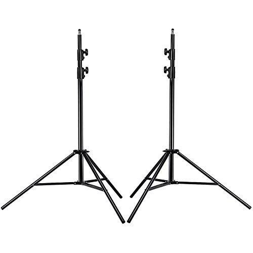 Neewer Pro 9 Fuß / 260cm Hochleistungs Aluminiumlegierung Fotografie Foto-Studio-Licht Stativ Set für Video, Porträt und Fotografie Beleuchtung (2 Stück)