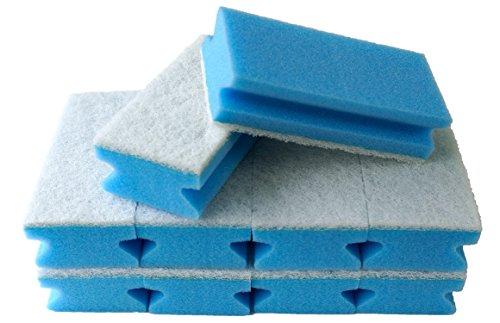 Sonty 10 Stück Schwamm Jumbo XL Soft, Putzschwamm waschbar, Reinigungsschwamm kratzfrei für Küche, Bad, WC, 15 x 7 x 4 cm blau/weiß (blau)