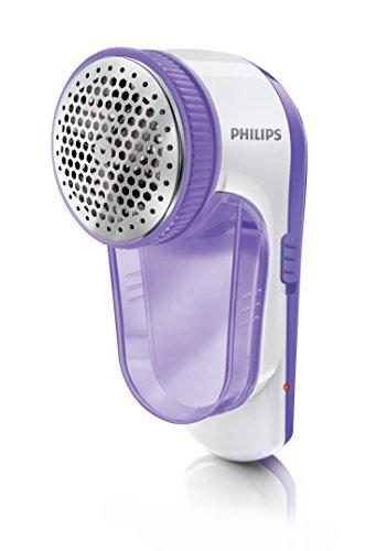 Philips GC027/00 Elektrischer Fusselentferner (Akku über USB aufladbar, mit Fusselbürste) flieder