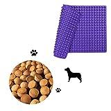 Hieagle Backmatte für Hundekekse Hundeleckerliesmit Noppen|1,2cm Halbkugel Backunterlage aus Silikon Hitzebeständig 240°C Lebensmittelecht (BPA-frei)| Antihaftbeschichtet Backform, 40x28cm (Lila)